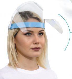 Tragekomfort Spezial Gesichtsschutz, Verstellbar, Klappbar