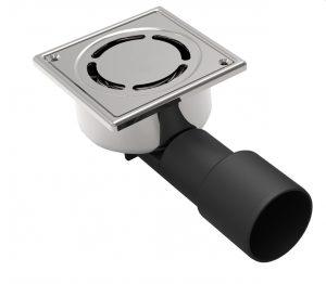 MERT Bodenablauf mit Sicherheitschlüssel komplett aus Edelstahl (304), 100x100 mm