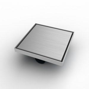 """Mert Bodenablauf Design """"Edel"""" komplett aus Edelstahl 200x200 mm, sehr flach"""