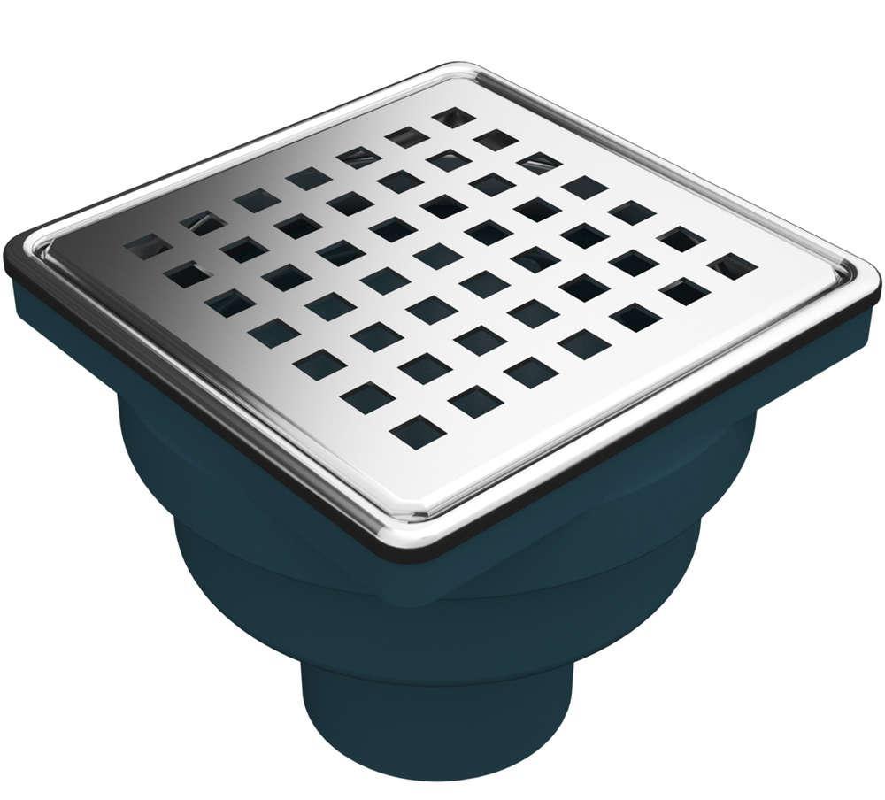 """MERT Bodenablauf mit Edelstahlrost und Rahmen """"Square"""" (304), 100x100 mm"""
