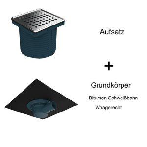 Bodenabläufe mit Bitumen Schweißbahn Waagerecht