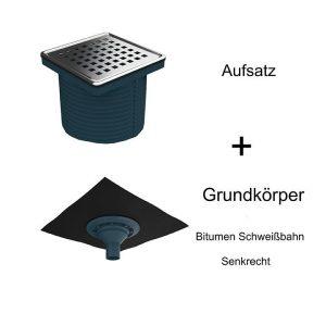 Bodenabläufe mit Bitumen Schweißbahn Senkrecht